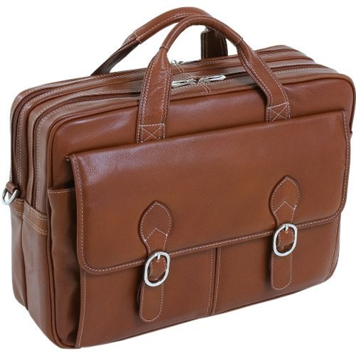 """McKlein 15.4"""" Kenwood Double Compartment Leather Laptop Case"""