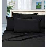 Celine Linen ®Supreme 1500 Collection 4pc Bed Sheet Set - All size and Colors  , Queen Black