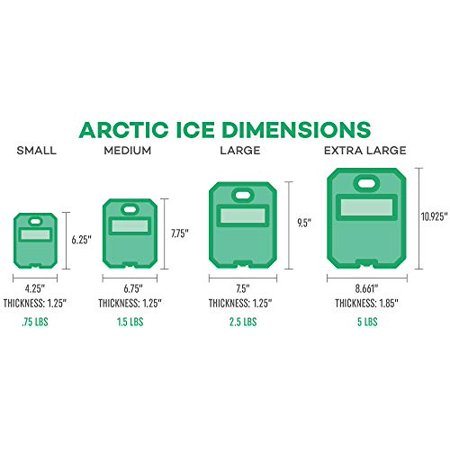 Arctic Ice 1206 Alaskan Series 1 Degree P.C.M. Reusable High Performance Ice, Refrigerated Temperatures 5 Lb Container - image 3 of 4