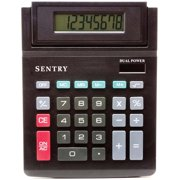 Sentry Tilt-Display Desktop Calculator, Black