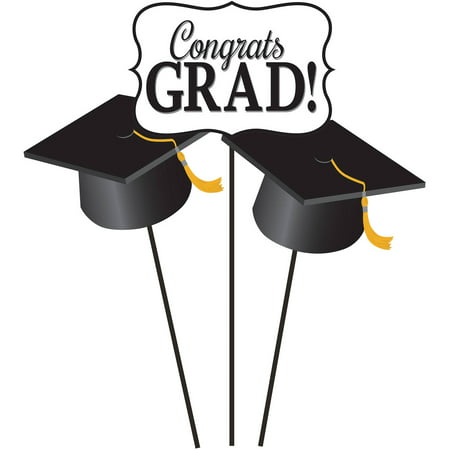 graduation diy centerpiece sticks 3pk walmart com