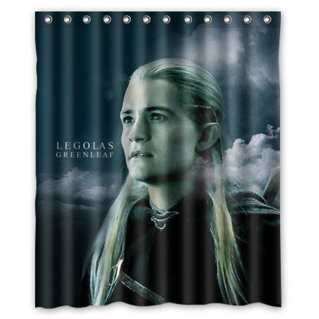 DEYOU The Hobbit Protagonist Elf Prince Legolas Shower Curtain Polyester Fabric Bathroom Size 60x72