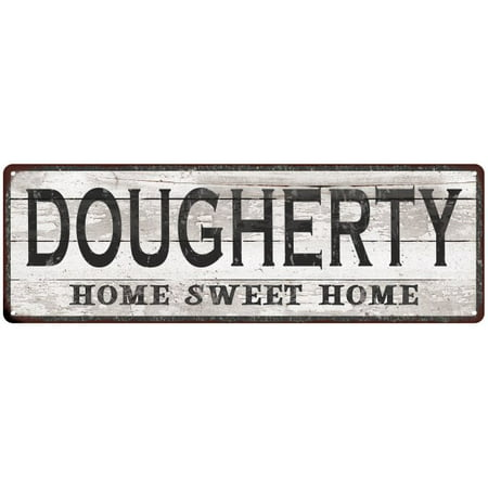Dougherty Home Sweet Home Country Look Gloss Metal Sign 6X18 Distressed Shabby Chic D Cor  Home  Game Room M61802177