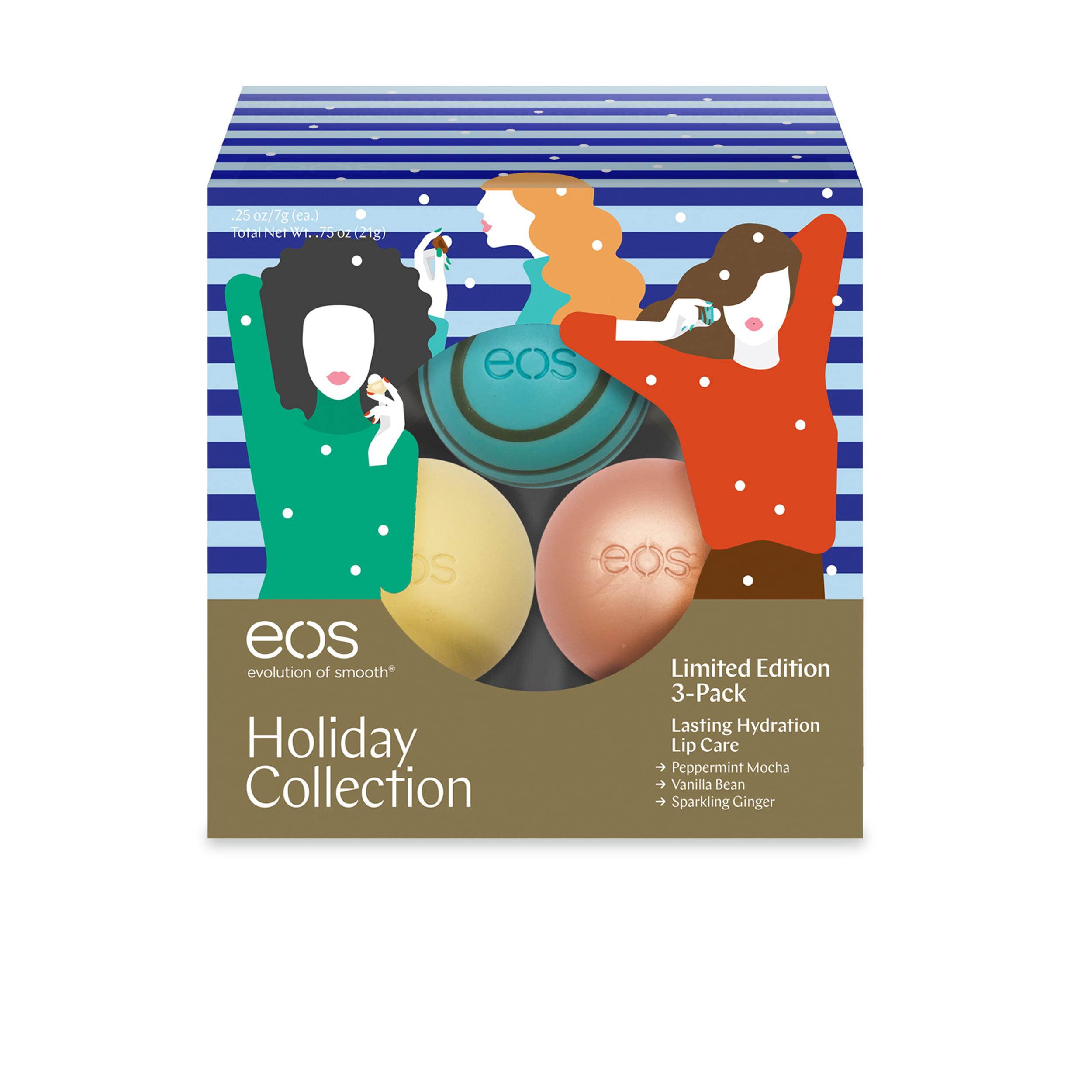 Восхитительно мягкие сферы-бальзамы для губ  EOS Evolution of Smooth - Delightfully Soft Lip Balm Spheres - 3 Count Limited Edition