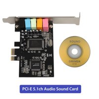 PCIe Sound Card for PC Windows 10, EEEkit PCI Express Desktop Sound Adapter, 3D Stereo PCIe Audio Card, CMI8738 Chip Sound Card for Windows XP 7 8
