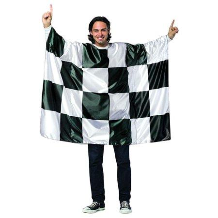 Checkered Flag Tunic Adult Costume - One - Tunic Costume