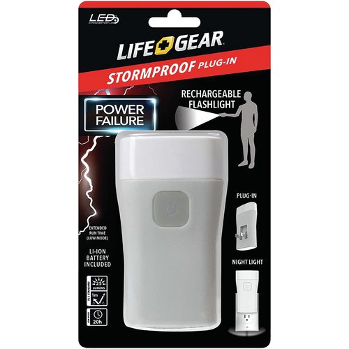 Life Gear Storm Proof Power Failure Flashlight and Nightlight
