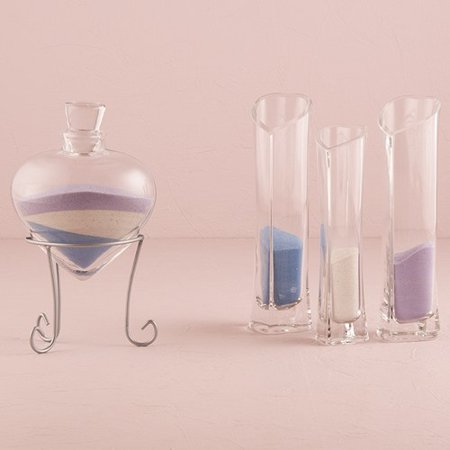 Heart Shaped Sand Ceremony Vase Set Unity Ceremony - Sand Ceremony Vases