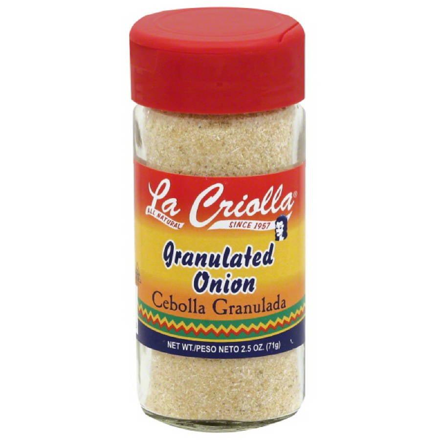 La Criolla Granulated Onion, 2.5 oz, (Pack of 12)
