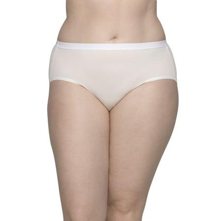 Fit for Me by Fruit of the Loom Women's Plus Microfiber Brief Panties - 5