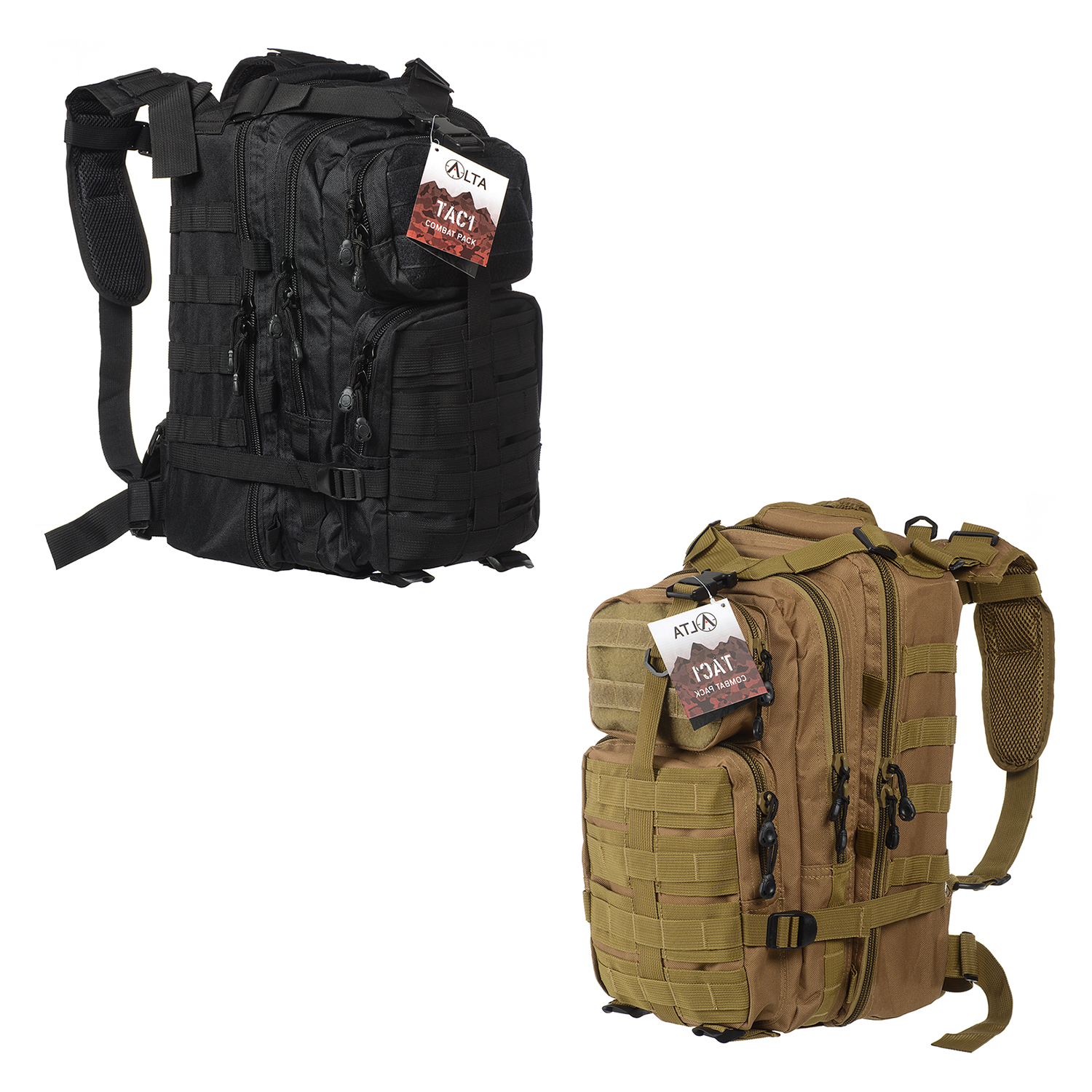 TAC1 Military Tactical Large Army 3 Day Assault Pack MOLLE Outdoor Bug Out Bag Backpacks for Hiking Camping Hunting Trekking