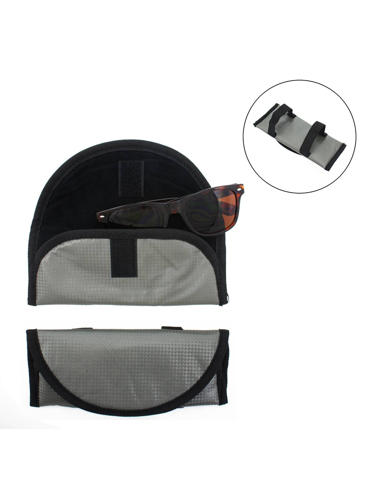 2 Visor Sunglasses Soft Protective Cases Holders -Easy Storage For Car Or Truck