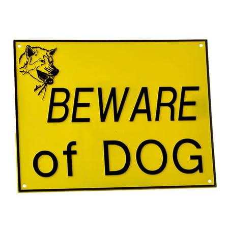 Doggie Dooley Beware of Dog Sign Large - (11.75L x - Doggie Lamp