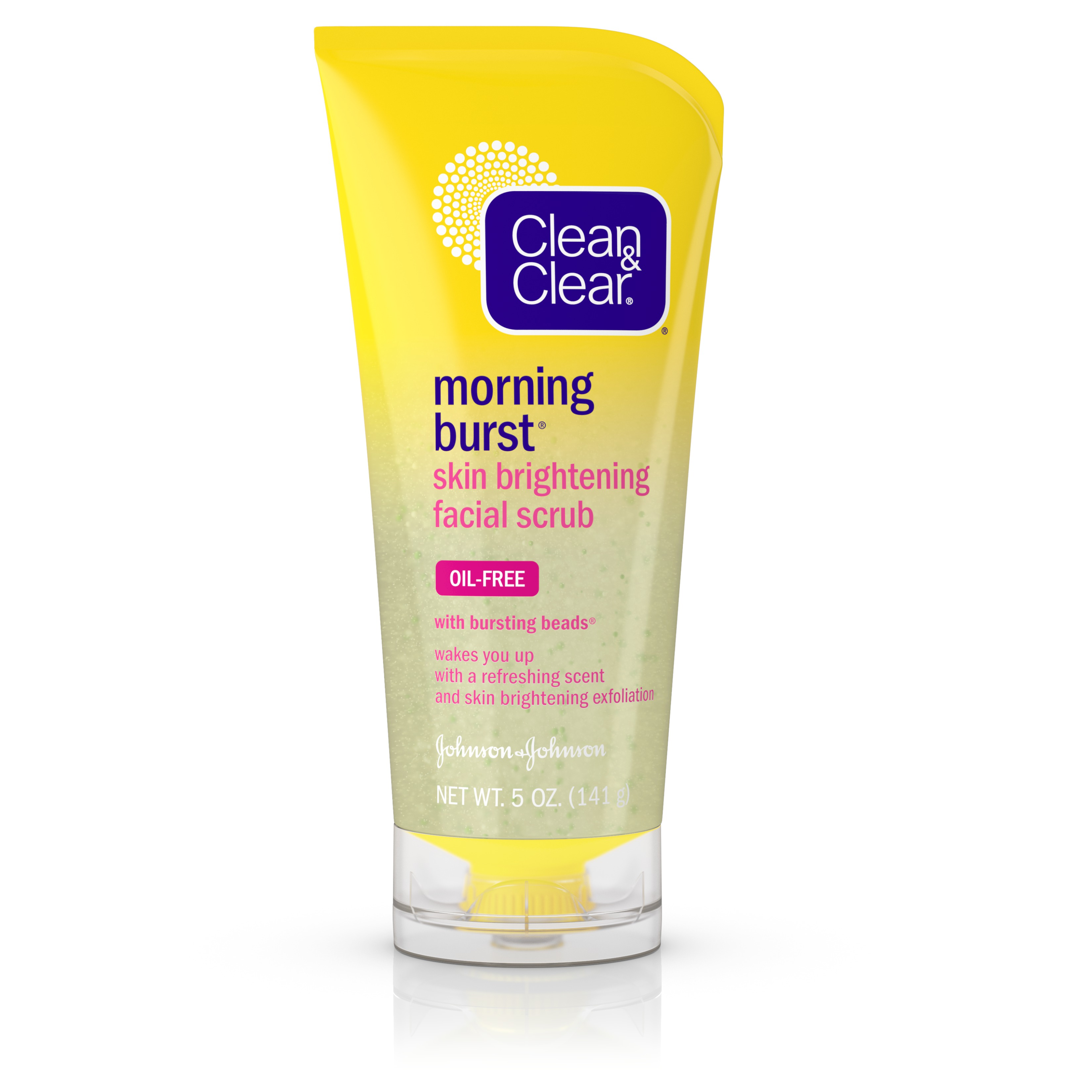 Clean & Clear Morning Burst Skin Brightening Facial Scrub For Clear Skin, 5 Oz.