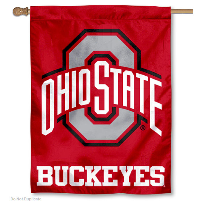 "Ohio State Buckeyes Athletic Logo 30"" x 40"" House Flag and Banner"