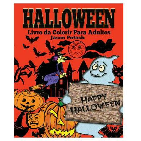 Halloween Livro Da Colorir Para Adultos