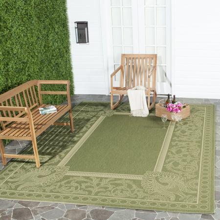 Courtyard Natural (Safavieh Courtyard Cooper Floral Indoor/Outdoor Area Rug or Runner)
