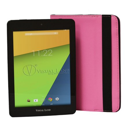 "Visual Land 8"" Tablet 16GB Quad Core includes Tablet Case"