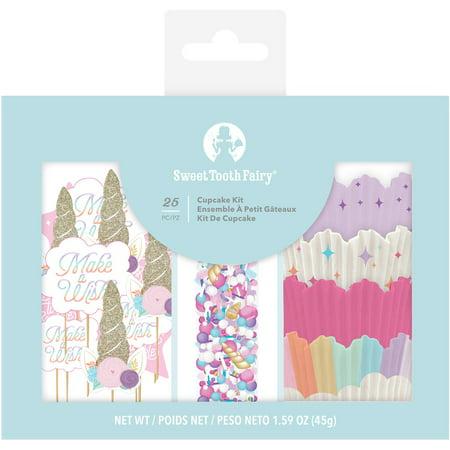Sweet Tooth Fairy Born To Sparkle Cupcake Kit 25Pcs-Unicorn Tooth Fairy Kits