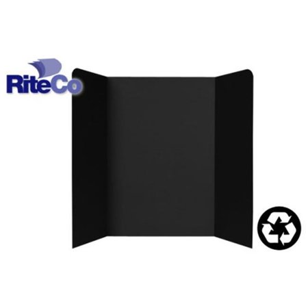 RiteCo Raydiant 22103 Riteco Tri-Fold Presentation Boards 48 In. X 36 In. Black , 24 Pack (Black Tri Fold)