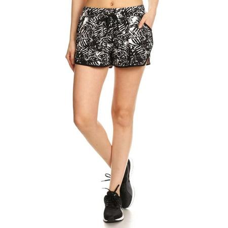 70af568f98 Simplicity - Women's Shorts with Drawstring Waist Tie Floral Beach  Boardshorts S/M - Walmart.com