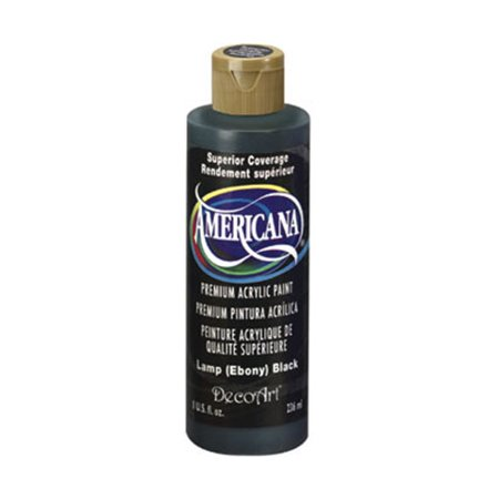 DecoArt Americana Acrylic Paint. Ebony Black. 8 oz Decoart Americana Acrylic Paints