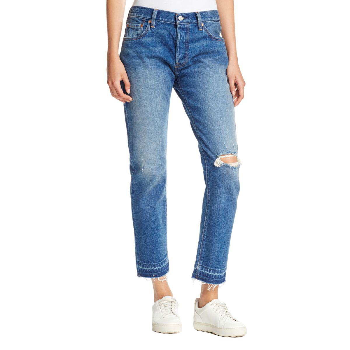 Levi's Womens 501 Cropped Straight Leg Jeans