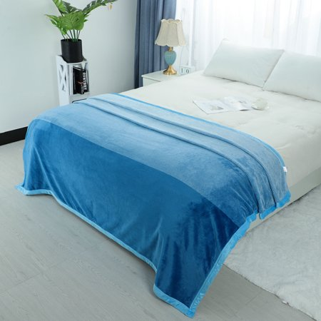 Soft Warm Fuzzy Microfiber Gradient Ombre Blankets for Bed or Couch