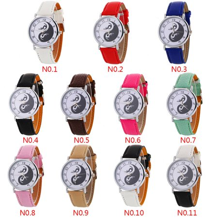 outdoorline Chinese Yin Yang Harmony Round Dial Quartz Watch Alloy Analog Wristwatch Hand Accessory Gift - image 7 de 9