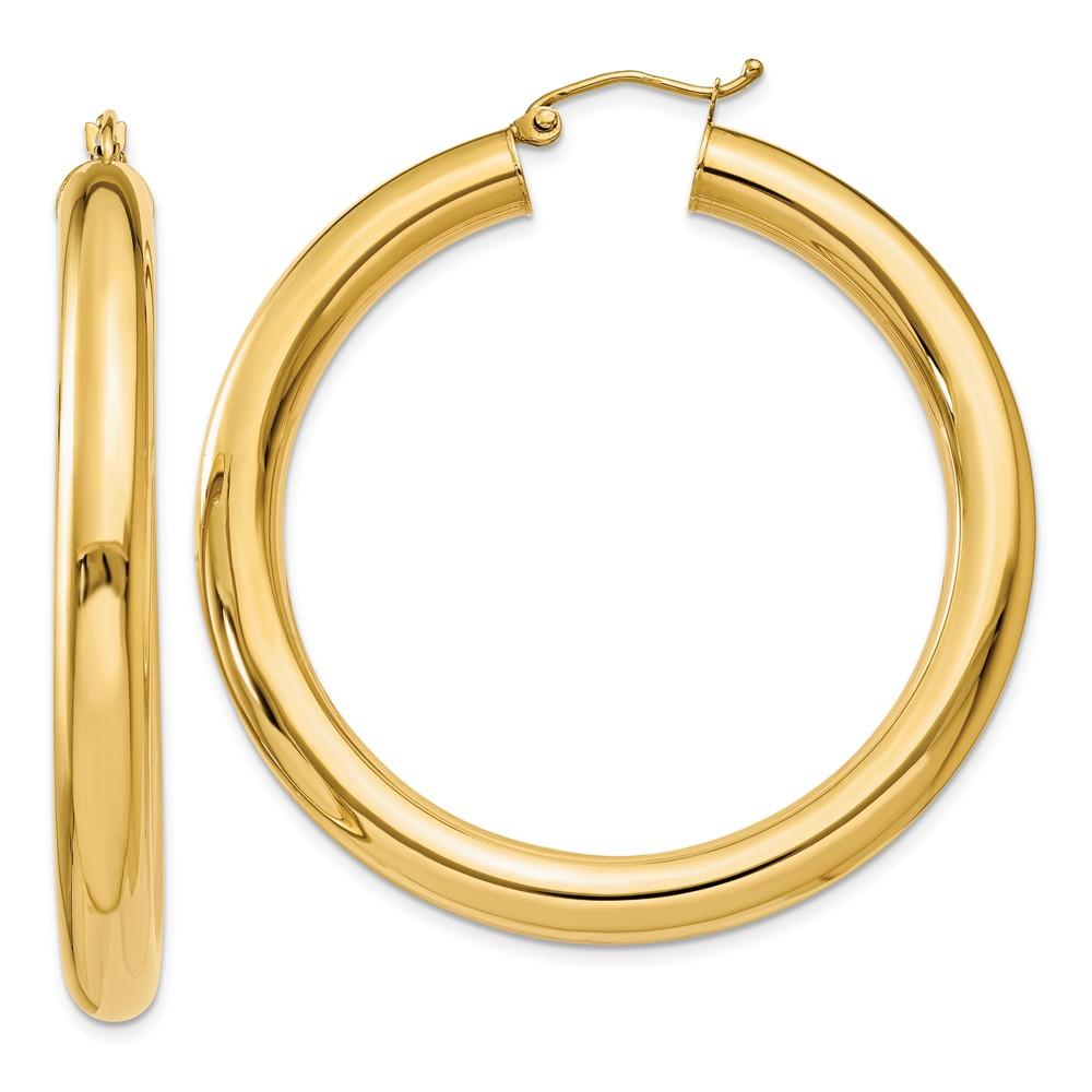 Mia Diamonds 14k Gold Two-tone Polished Hoop Earrings
