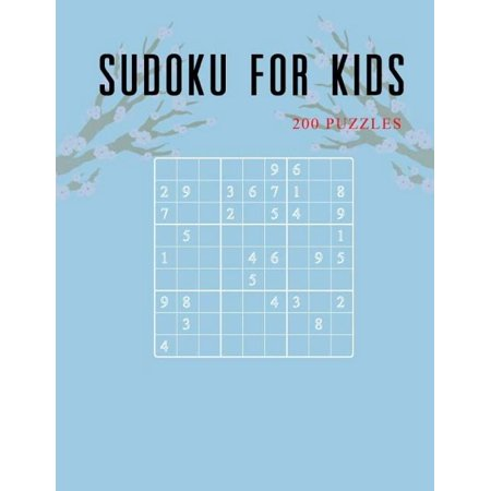 Sudoku for Kids : Game Puzzles and Activity Book for Kids, 6x6, 9x9 Puzzle Grids, 200 Challenging Puzzles, Travel Games Size Large 8.5 X 11 (Volume 1) Large Grid Sudoku
