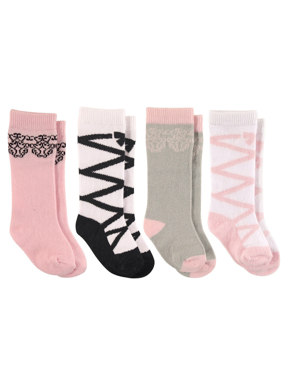 KNEE HIGH Baby Girls Pink White Bow Socks Special Occasion 3-6-12-18m