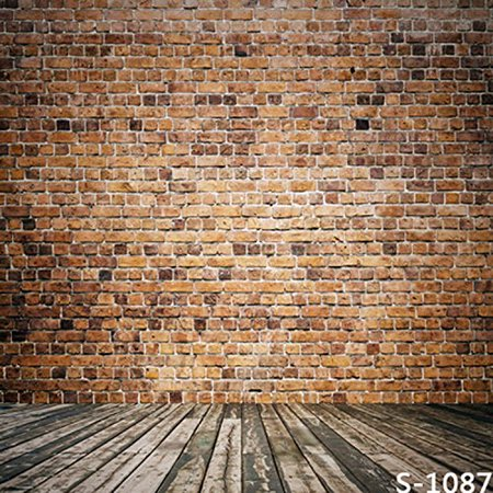 XDDJA Polyester Fabric 5x7ft Small Brown Brick Wall Wood Floor Photography Studio Backdrop Background - image 1 of 1