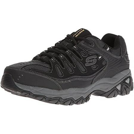 4d219052659a Skechers - 50125 EWW 4E BKCC Wide Width Black Skechers Shoe Men Memory Foam  Leather Sneaker - Walmart.com