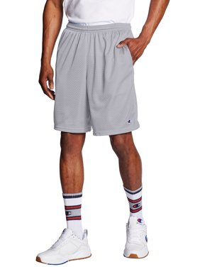 "Champion Men's Long Mesh 9"" Shorts with Pockets, up to Size 4XL"