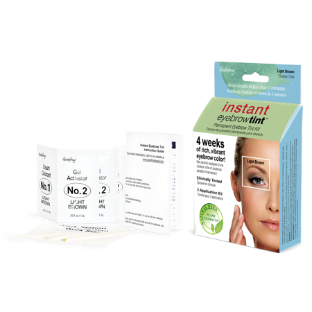 Godefroy Instant Eyebrow Tint, 3 application kit, Light ...