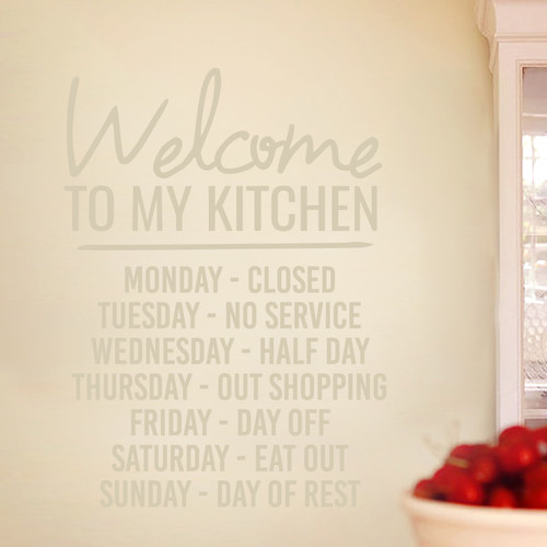 Sweetums Wall Decals ''Welcome to My Kitchen'' Wall Decal