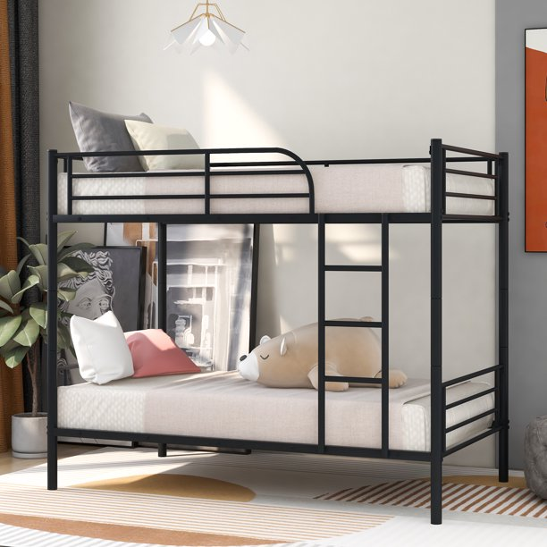 Kids Bunk Beds For Small Rooms Modern Metal Bunk Beds For Kids Teens Twin Over Twin