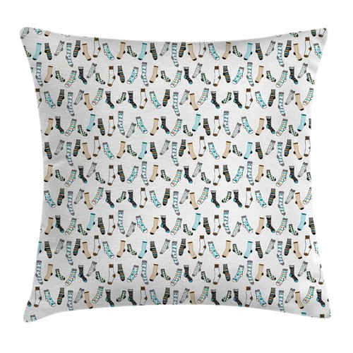 Ambesonne Cartoon Rain of Socks Laundry Pillow Cover
