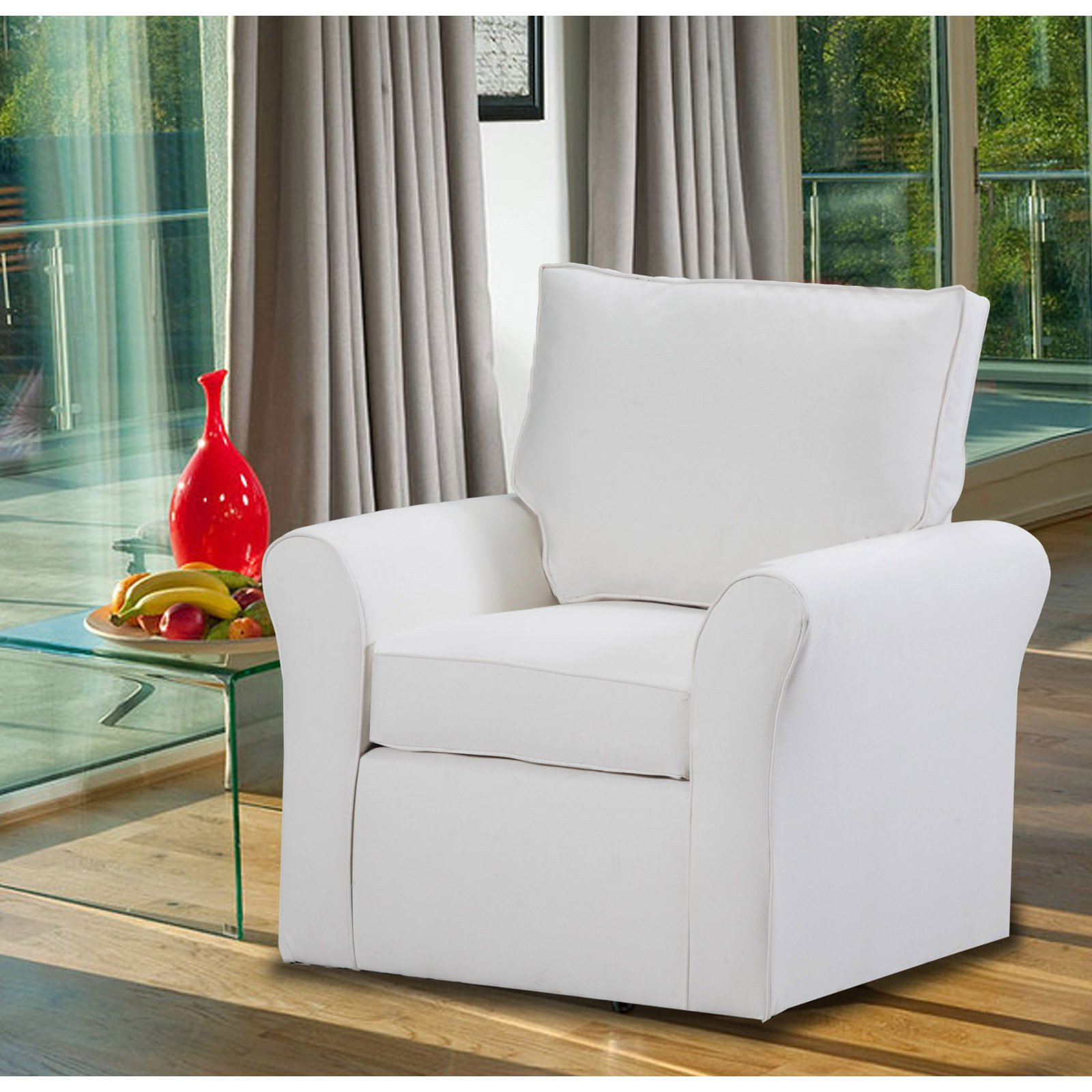 Carolina Accents Belle Meade Swivel Armchair by