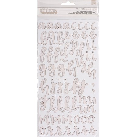"""One Canoe Two Twilight Thickers Stickers 5.5""""X12"""" 2/Pkg-Hazel Alpha/Fabric Covered Chipboard"""