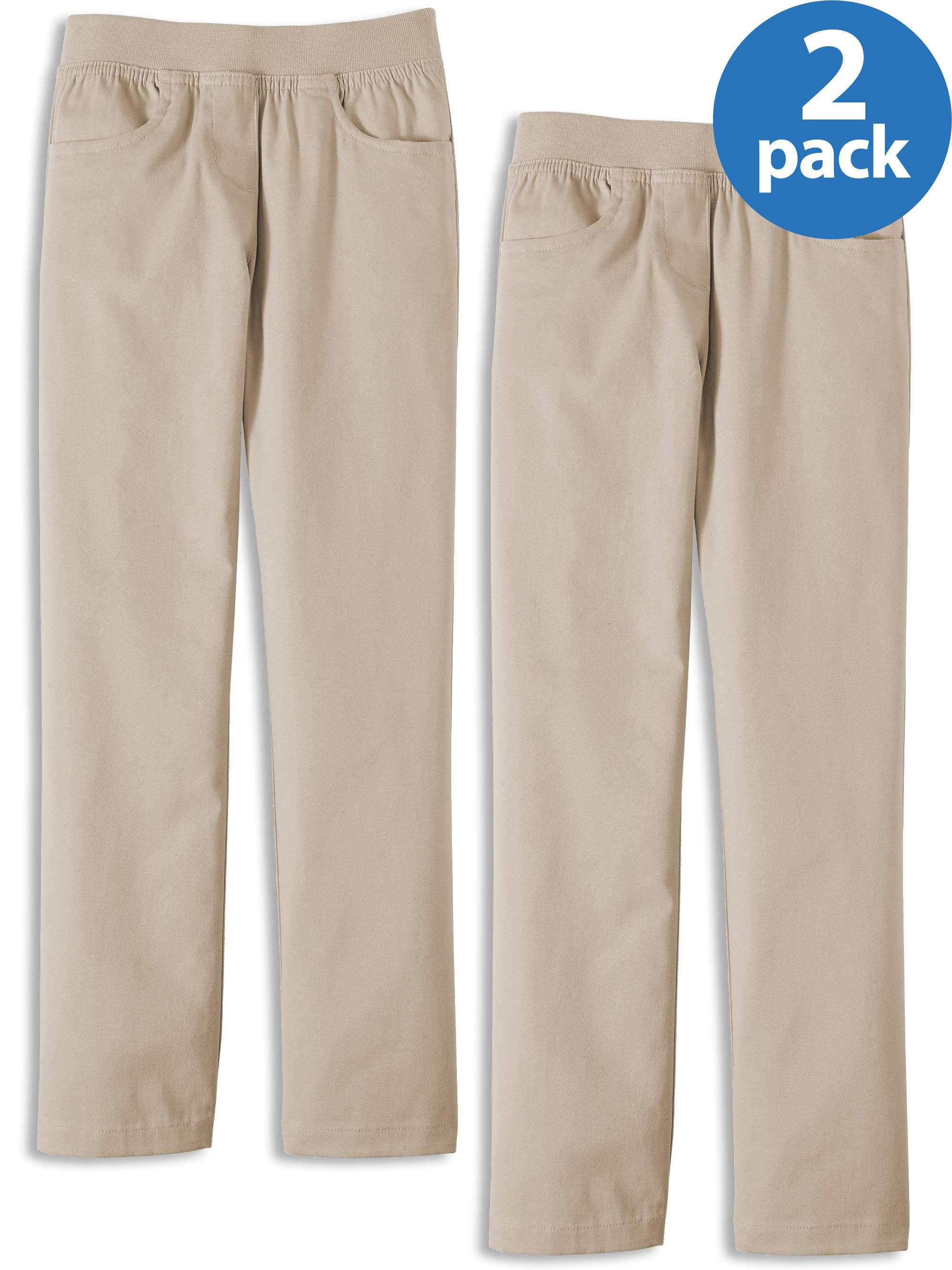 Girls school trousers skinny bootleg straight stretchy office work leggings