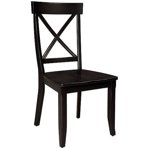 Home Styles Side Dining Chairs Set of 2, Black by Home Styles