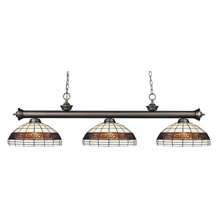 Z-Lite Riviera 200-F14-1 Billiard/Island - Z-lite Glass Billiards Lighting Fixture