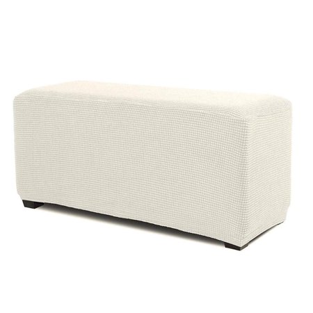 Amazing Orlys Dream Spandex Pique Stretch Fit Rectangle Storage Ottoman Furniture Cover Slipcover Beige Uwap Interior Chair Design Uwaporg