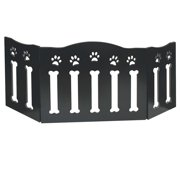 Wooden Paws And Bones Pet Dog Gate Free Standing Tri Fold 19