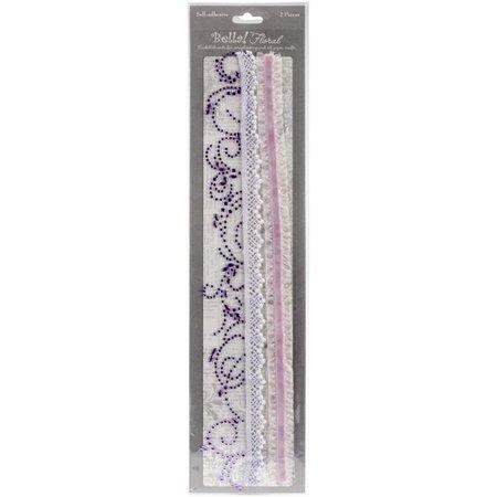 Bella Bling & Fabric Trim Embellishments - Purple