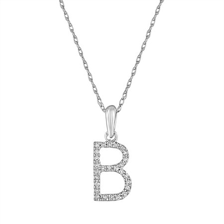 sabrina designs 14k white gold and diamond initial letter b pendant necklace 16 chain monogram personalized gift walmartcom