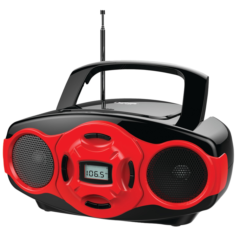 Naxa NPB-264 RE Portable CD/MP3 Mini Boom Boxes & USB Player (Red)