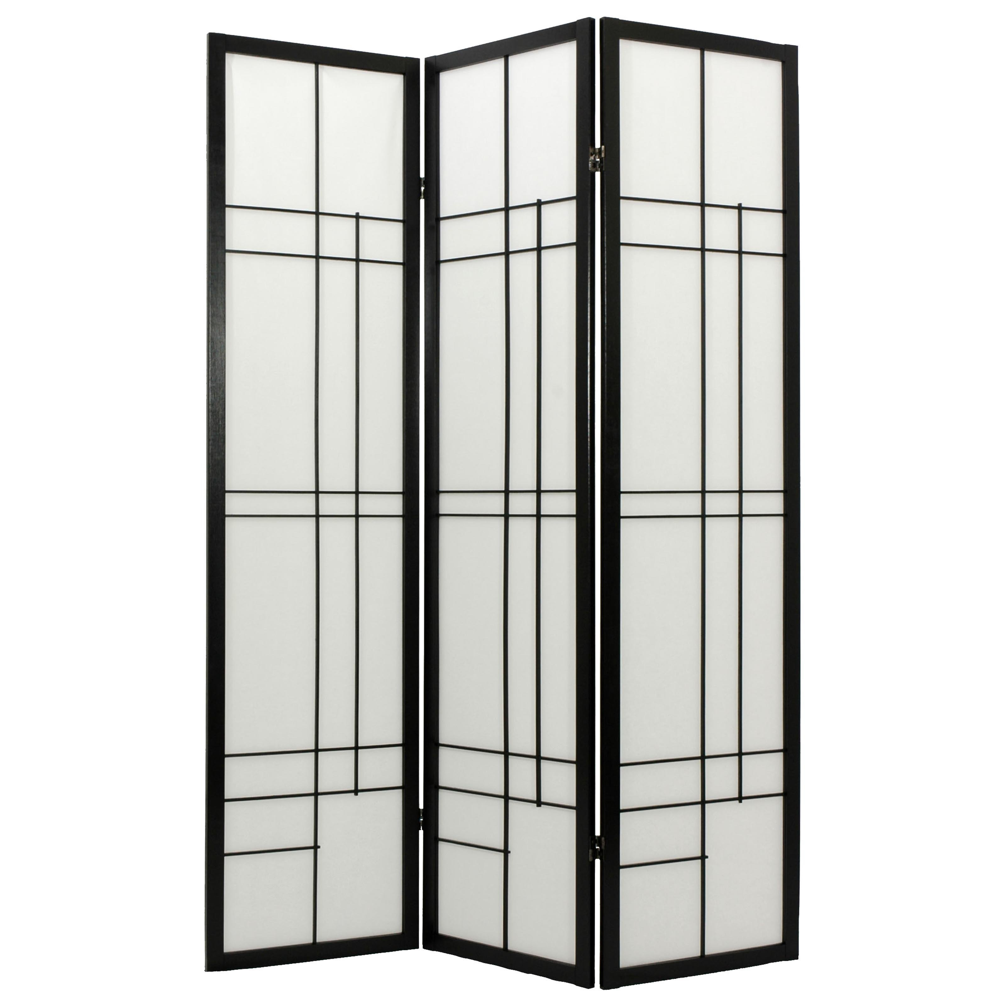 Oriental Furniture Eudes Shoji Screen Room Divider Walmartcom